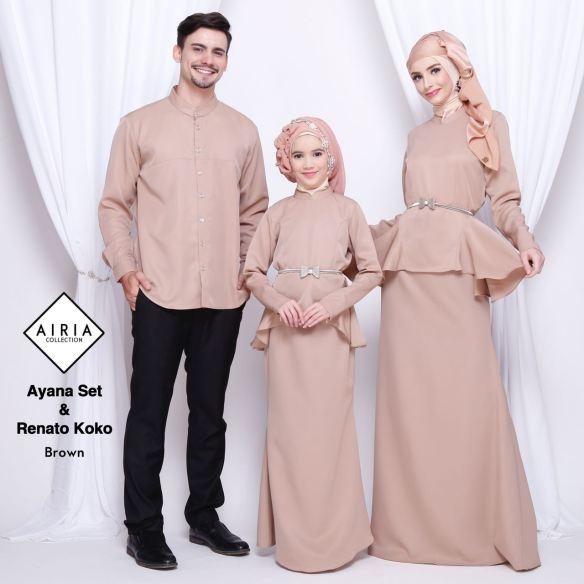 contoh model baju lebaran 2018 keluarga