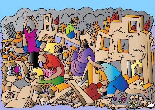 Gambar Bahaya Gempa Bumi dan Upaya Penanggulangannya